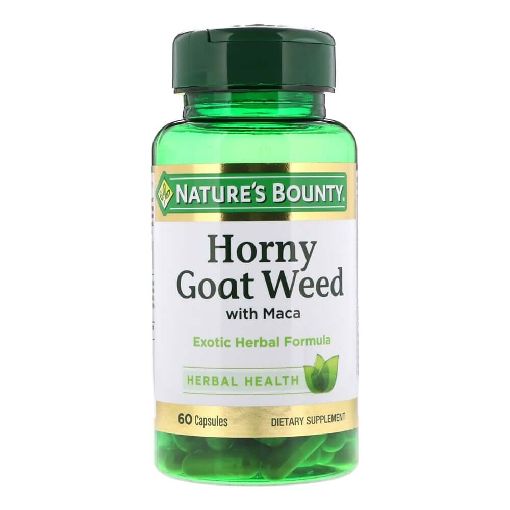 thuoc uong chong suat tinh som natures bounty horny goat weed my 60 vien anh 1