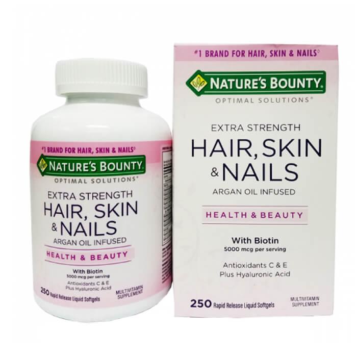 Viên uống Hair Skin Nail Nature's Bounty - Viên Uống Đẹp Da, Tóc, Móng, 250  viên